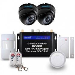 """GSM сигнализация Sapsan GSM MMS 3G с датчиками """"Дом"""", 2-мя комнатными в/камерами, функцией ВИДЕОЗВОНОК ДОМ"""