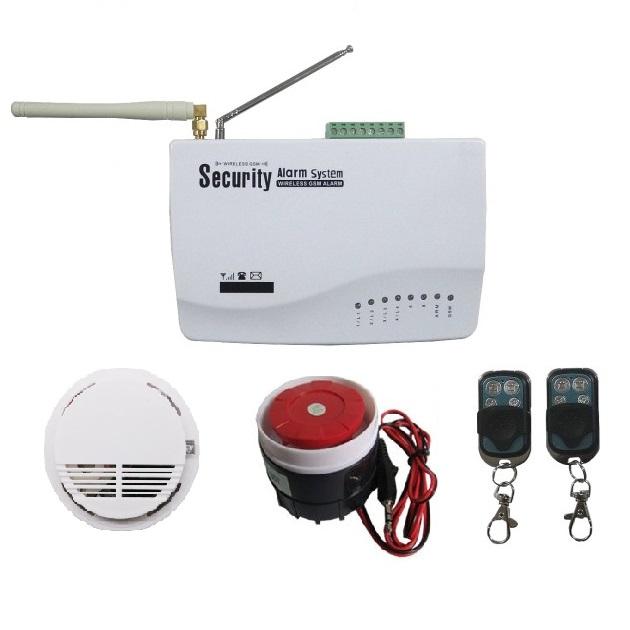 """Комплект GSM сигнализации """"Стандарт"""" (прибор, пожарный датчик, сирена, 2 брелка)"""